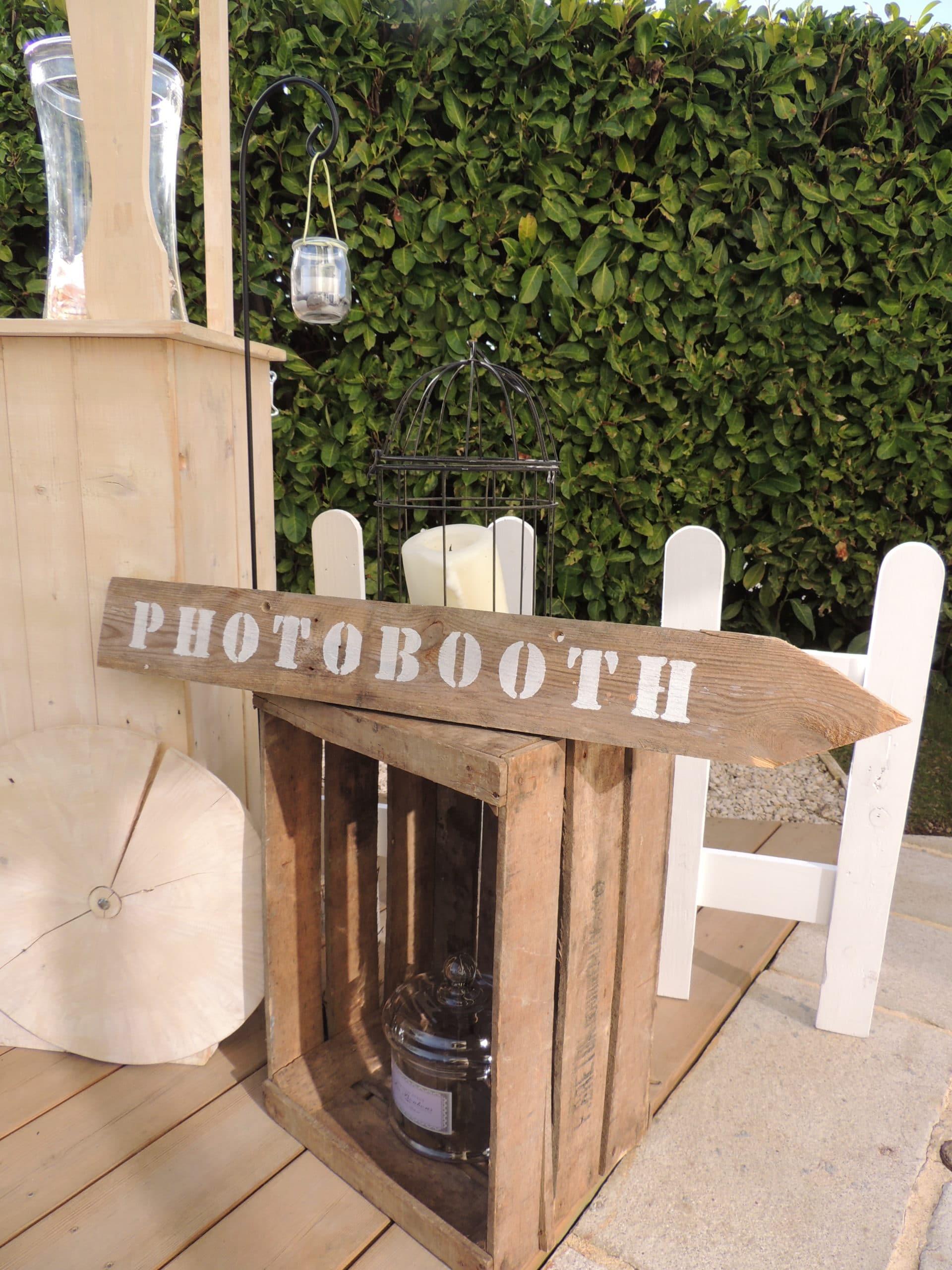 location de materiels de décoration pour un mariage champêtre proposés par esprit pop'up par