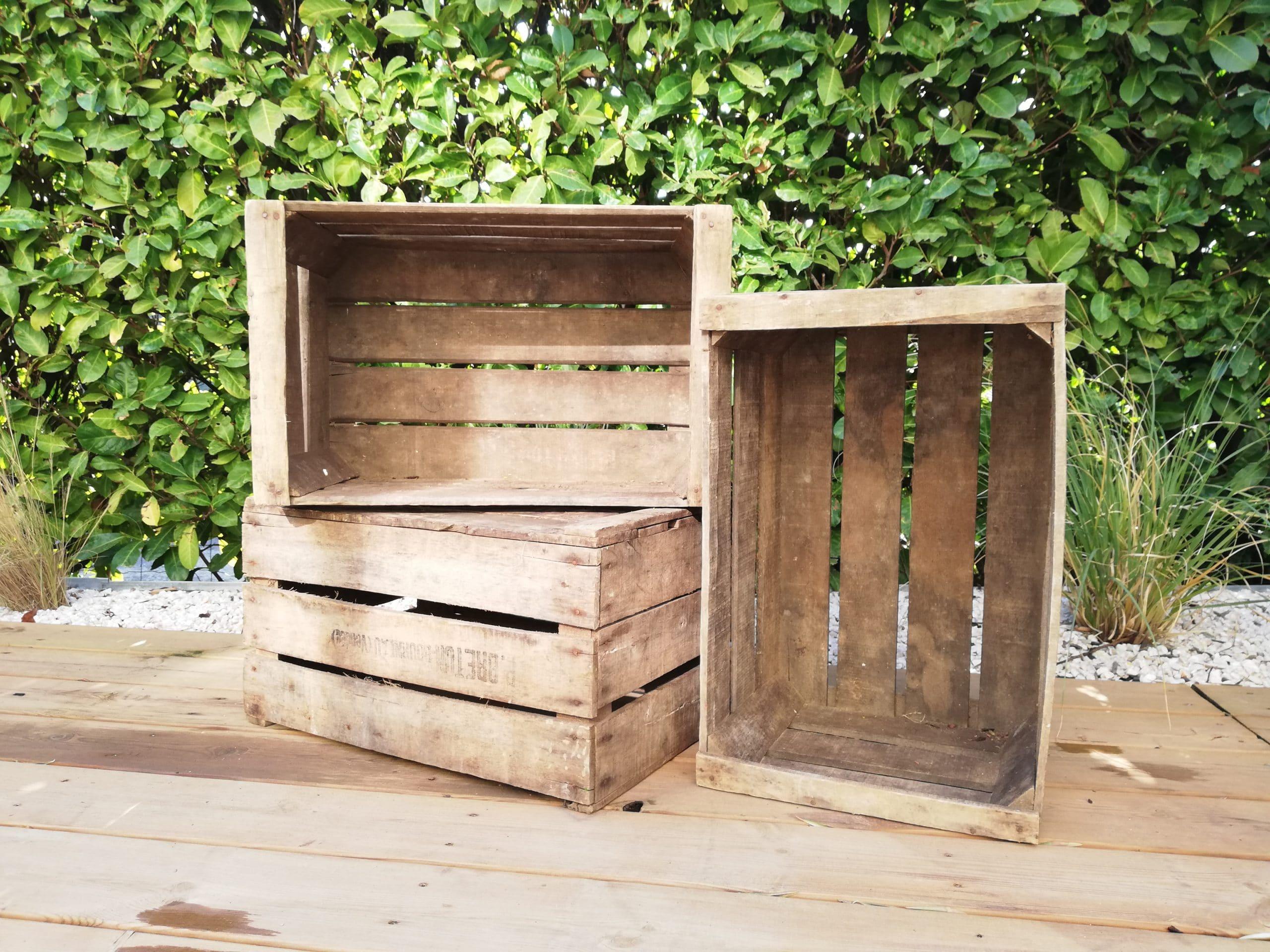 location de caisses en bois pour une décoration champêtre proposées par esprit pop'up