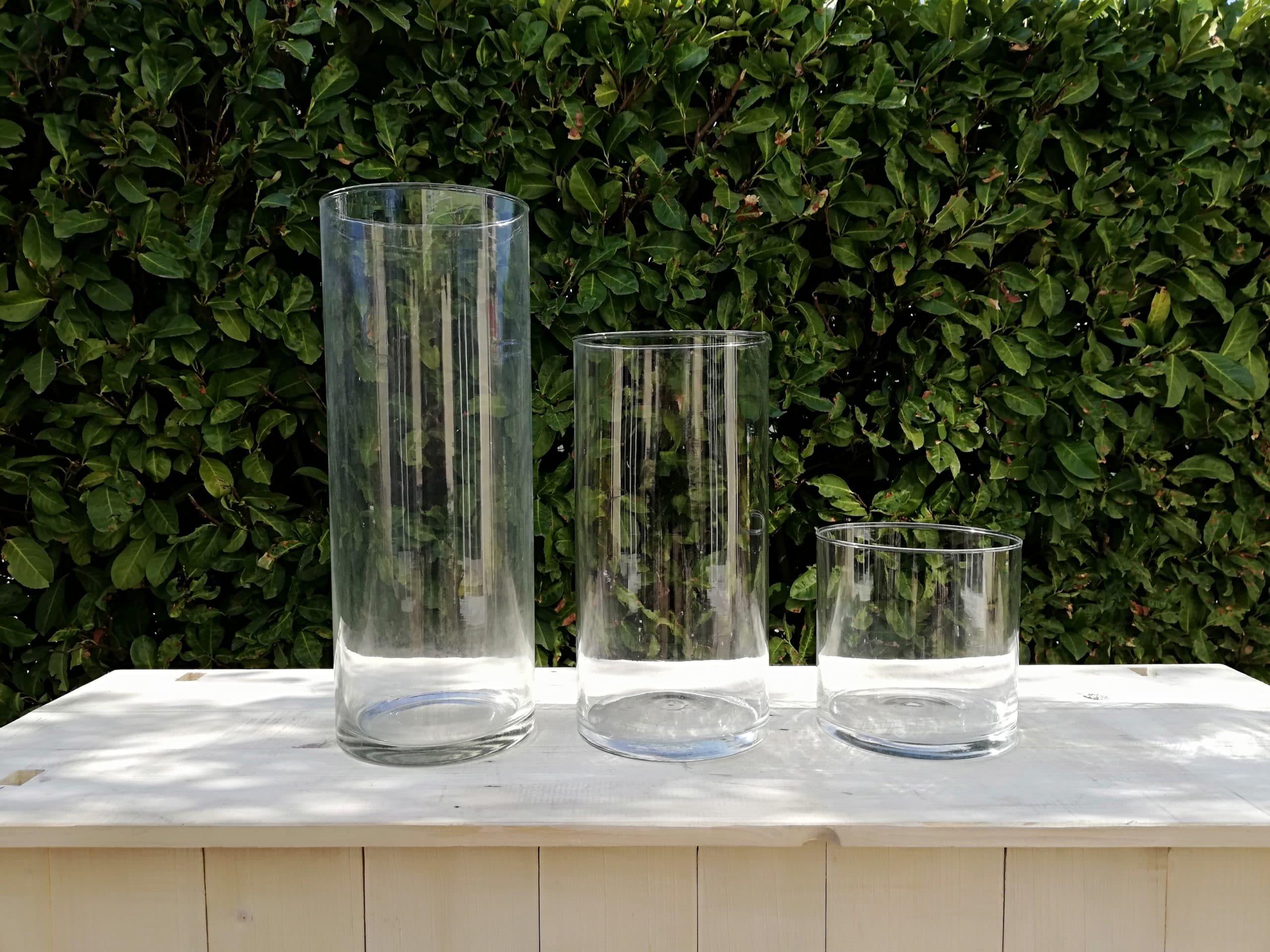 location trio de vases pour centre de table pur mariage proposé par esprit pop'up
